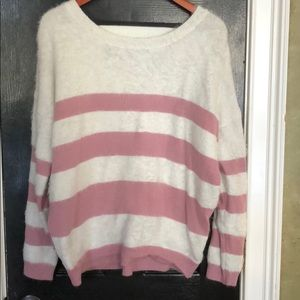 Ee:some pink and white striped sweater s